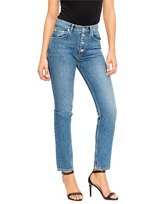 High waisted skinny tube jean