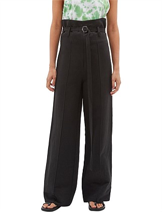 Linen High Rise Tailored Pant