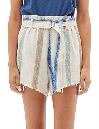 Textured Belted Mini Short