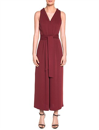 DOBBY MULTISTITCH BELT JUMPSUIT