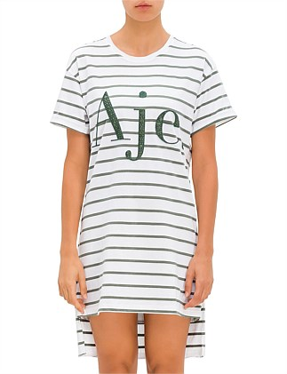 Eucalypt Stripe Tee Dress