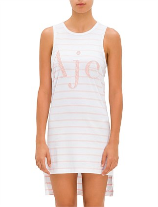 Salt Lake Stripe TANK Dress