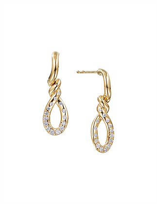 22MM CONTINUANCE DROP EARRINGS DI 18K