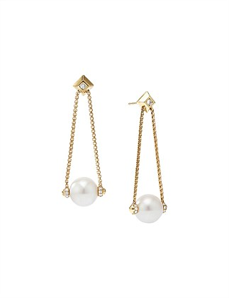 10MM SOLARI DROP EARRING PE DI 18K