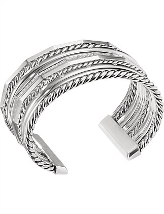 29.5MM STAX WIDE BRACELET DI SIL