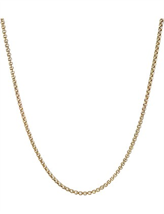 1.7MM BX CHN W/SPRTL CLSP NECKLACE 18K