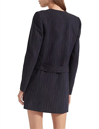 FADED PINSTRIPE BLAZER DRESS