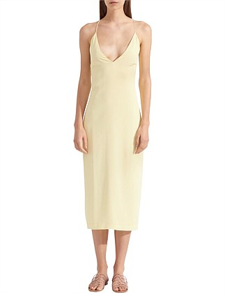 WHITEWASH FLOATING COIL SLIP DRESS