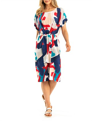Short Sleeve Relaxed Print Dress