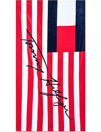 Flags & Stripes Beach Towel