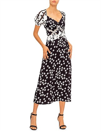 Daisy Printed Midi Dress
