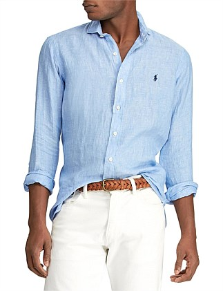 LONG SLEEVE LINEN SPORT SHIRT