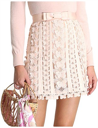 Super Eight Flutter Mini Skirt