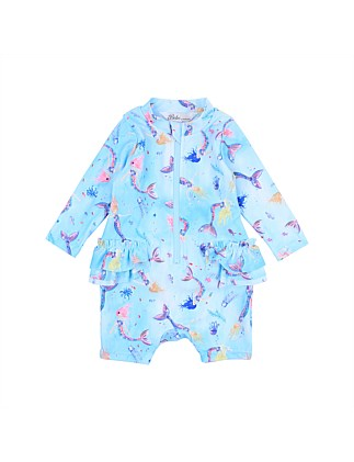 Luna Zip Front L/S Sunsuit (3M-2Y)