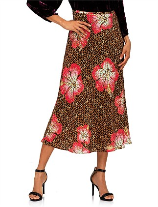 KELLY HAWAII GIRAFFE - CAMEL CORAL SKIRT