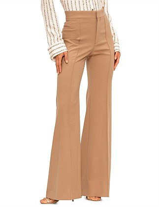 STRETCH WOOL CLASSIC LONG PANT W/ZIP DETAIL