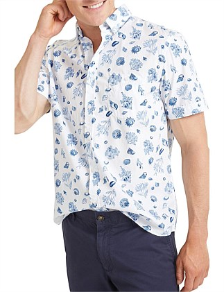 Reef Short Sleeve Print Shirt