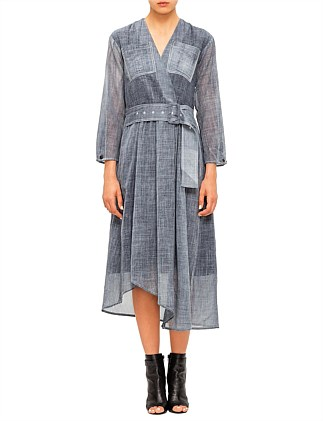 Cold Water Indigo Wool Dress