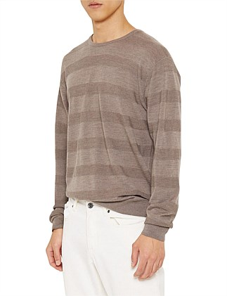100% Wool Stripe Knit