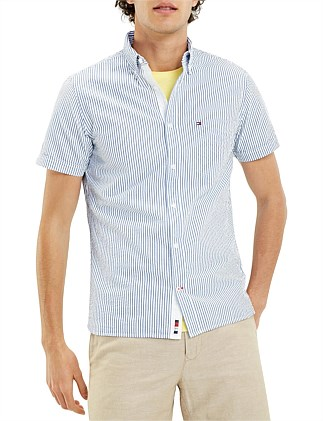 SLIM SEERSUCKER STRIPE SHIRT S/S
