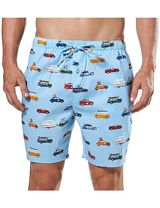 ROAD TRIP PRINTED SLEEP SHORT