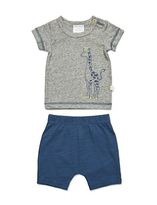 Short Sleeve Top and Short Set (NB-1Y)