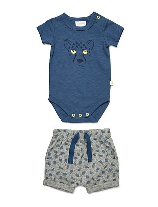 Bodysuit and Short Set (NB-1Y)
