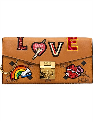 PATRICIA LOVE PATCH FLAP WALLET /TWO-FOLD LARGE