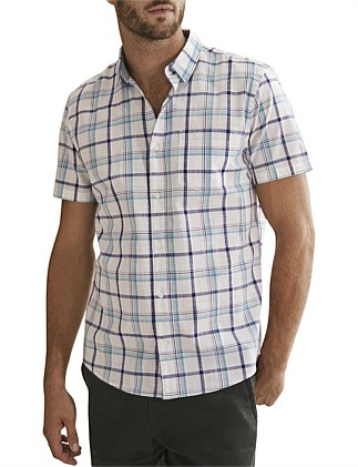 Short Sleeve Regular Check Shirt