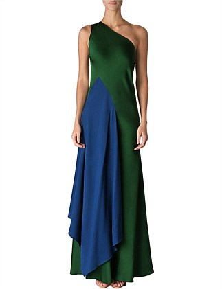 CYPRESS SATIN FAUVIST GOWN