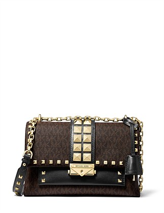 Cece Medium Studded Logo And Leather Convertible