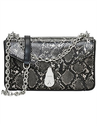 LOCK CHAIN STRAP CROSSBODY