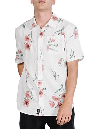 Poppy Haze Short Sleeve Shirt - Natural
