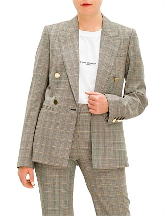 SINGLE/DOUBLE BREASTED PRINCE OF WALES TAILORED JACKET