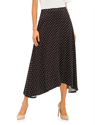 CADY PRINT MONOGRAM LONG SKIRT