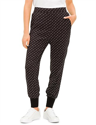 CADY PRINT MONOGRAM JOGGER WITH ELASTIC CUFF