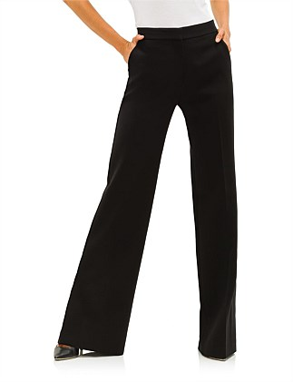 DOUBLE FACE WOOL TAILORING FLARE TROUSERS
