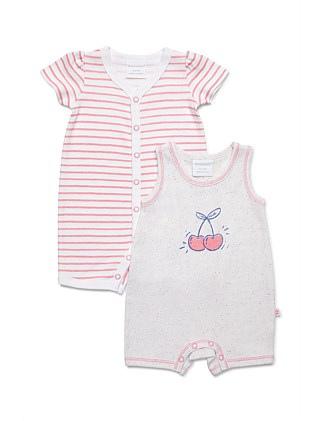 2 pack combo romper - cherry (NB-1Y)