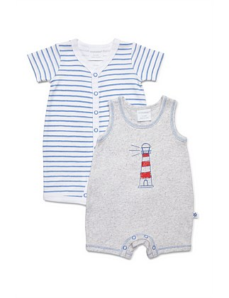 2 pack combo romper - lighthouse (NB-1Y)