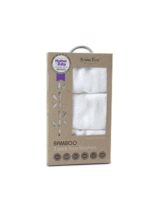 Bamboo 3 Pack Face Washers