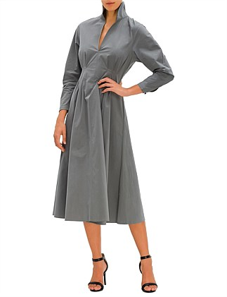 WINTER POPLIN DRESS