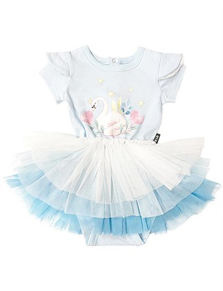 Swan Love Ss Circus Dress (3-6M - 2Y)