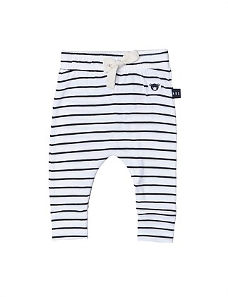 Stripe Drop Crotch Pant (Girls 3-8)