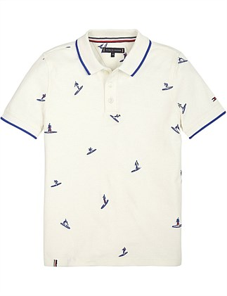 Surfer Embroidered Polo (Boys 3-7)
