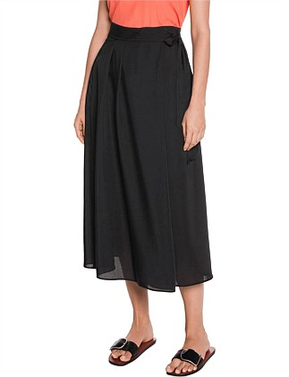 WASHER TWILL WRAP SKIRT