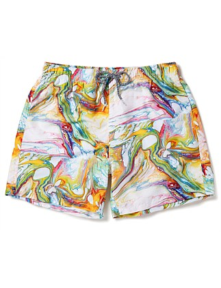 ECHO MARBLE SWIM SHORTS
