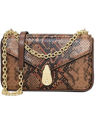 LOCK LARGE CROSSBODY WITH CHAIN STRAP