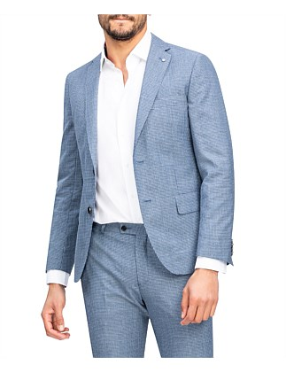 BLUE MINI CHECK SUIT JACKET