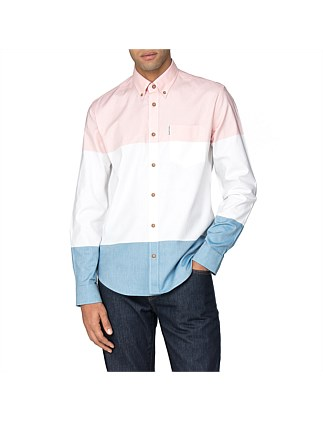 LS COLOUR BLOCK OXFORD SHIRT