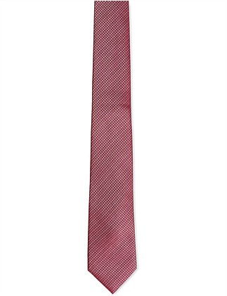 Red Mini Check Tie
